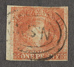 New Zealand: 1857 or 1862 1d dull orange,
